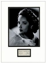 Merle Oberon Autograph Signed Display